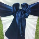 Navy Blue Satin Sash hire Melbourne