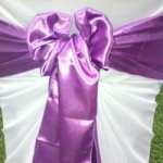 Purple Satin sash hire Melbourne