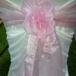 Pale Pink Organza Sash hire Geelong