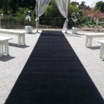 Black carpet wedding hire