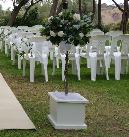 wedding tripods flower urn pedestals wedding hire melbourne