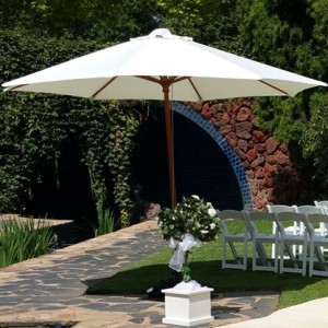 Market umbrellas to hire for your ceremony $85.00