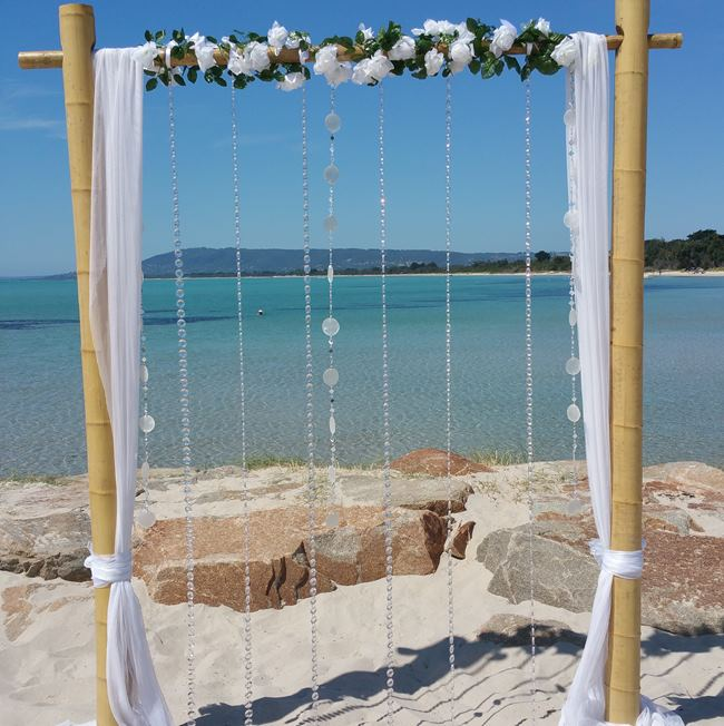 Bamboo wedding backdrop