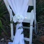 White chiffon chair shawl