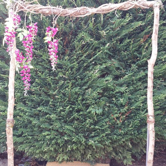 wisteria wedding arch