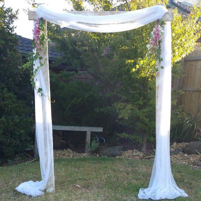 Wedding arch hire melbourne