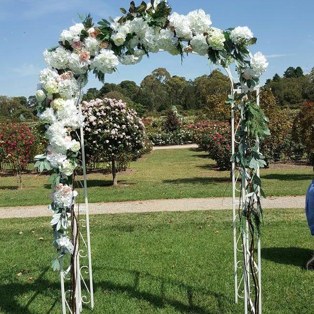 metal wedding arch hire