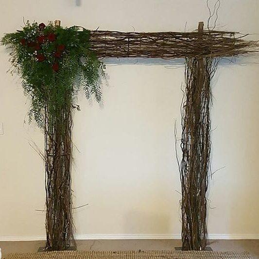 Willow wedding arch