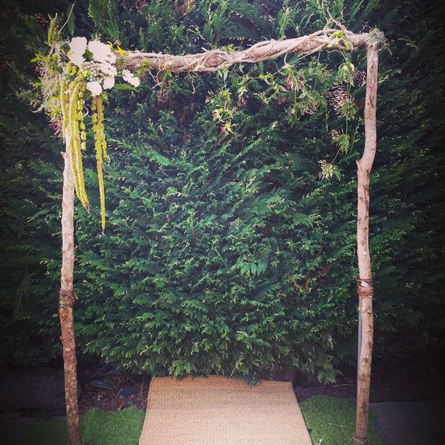 Natural Wedding arch