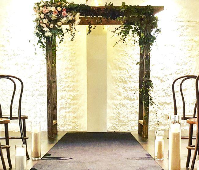 Wedding arch with Ivy