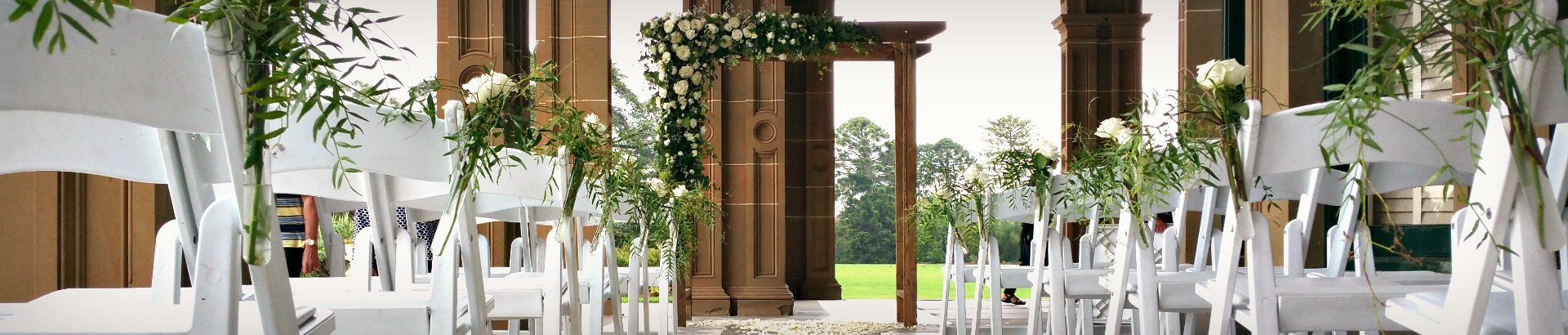 Timber wedding arch