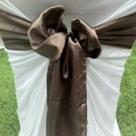 Brown Satin Sash hire melbourne