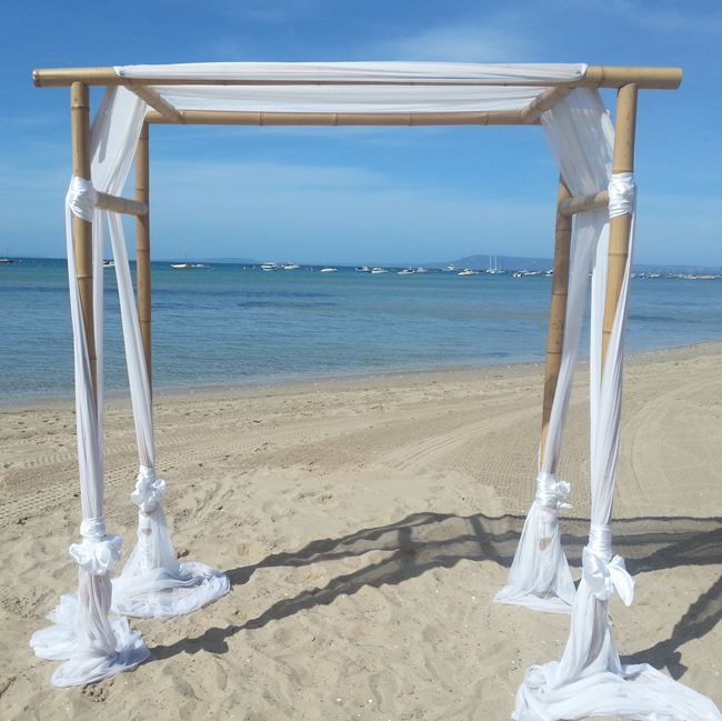 Wedding Altar Hire: Bamboo Wedding Canopy & Aloha Spirit Canopy Chuppah Altar