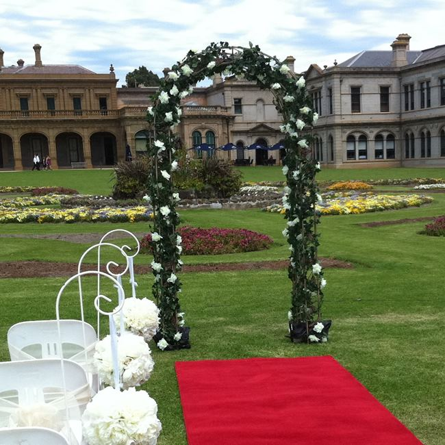 garden wedding arch hire