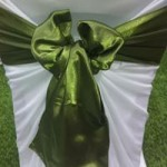 Gum Leaf Green Satin sash hire melbourne