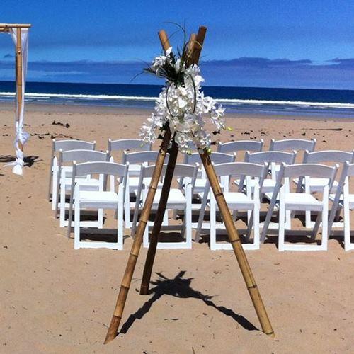 Wedding tripods flower urn pedestals wedding hire melbourne bamboo tripod decorations junglespirit Choice Image