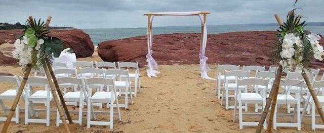 Beach wedding gippsland