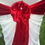 Red Satin Sash hire Melbourne