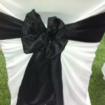 Black satin sash hire Melbourne