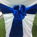 Electric Blue Satin Sash hire gippsland