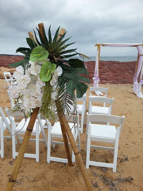 Wedding tripods flower urn pedestals wedding hire melbourne hire bamboo wedding tripods tripods junglespirit Choice Image