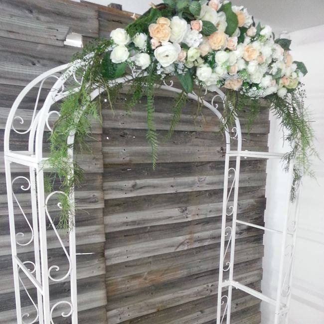 Wedding arch hire backdrops arbours weddings melbourne wedding arch hire with flowers junglespirit Images