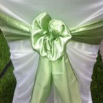 Light Green Satin Sash hire Gippsland