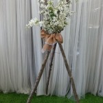 wedding tripods with flowers