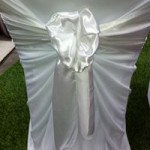 White Satin sash hire gippsland