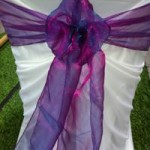 Dark Purple Organza Sash hire Geelong
