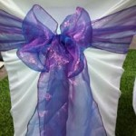 Purple Organza Sash hire Geelong