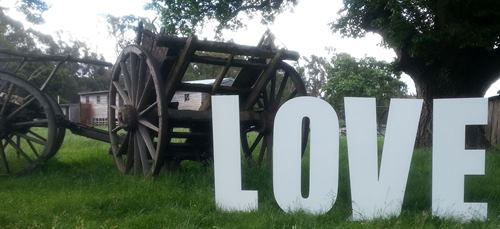 wedding decorations Giant love letters melbourne