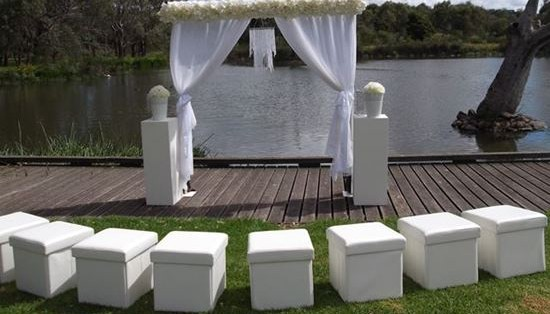wedding chair hire ottomans melbourne
