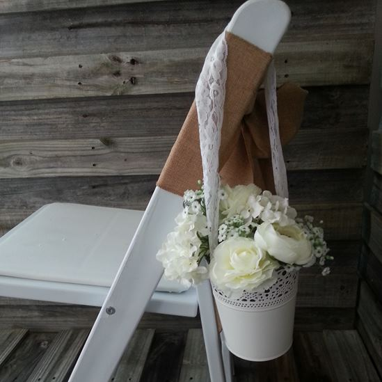 hanging bucket aisle decoration