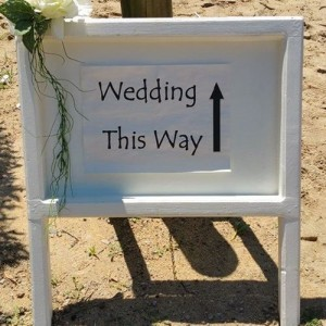 wedding this way sign