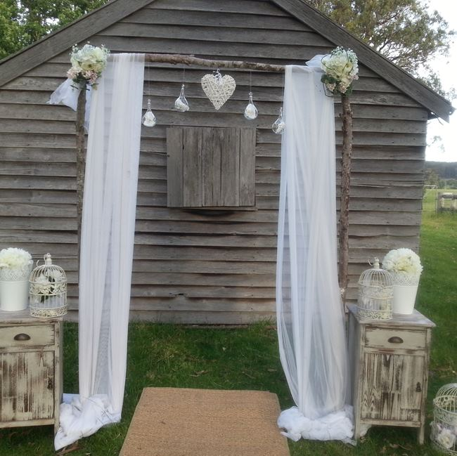 Rustic wedding backdrop hire melbourne