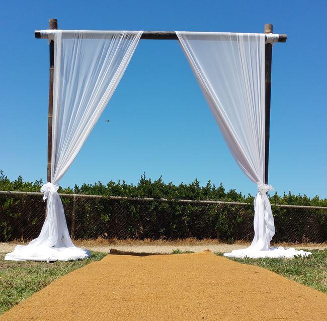 hire bamboo wedding backdrop