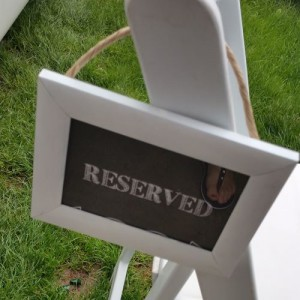 wedding reserved seating