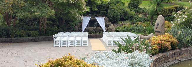 Garden weddings melburne Treasury Gardens