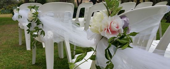 tulle drapping aisle decorations melbourne