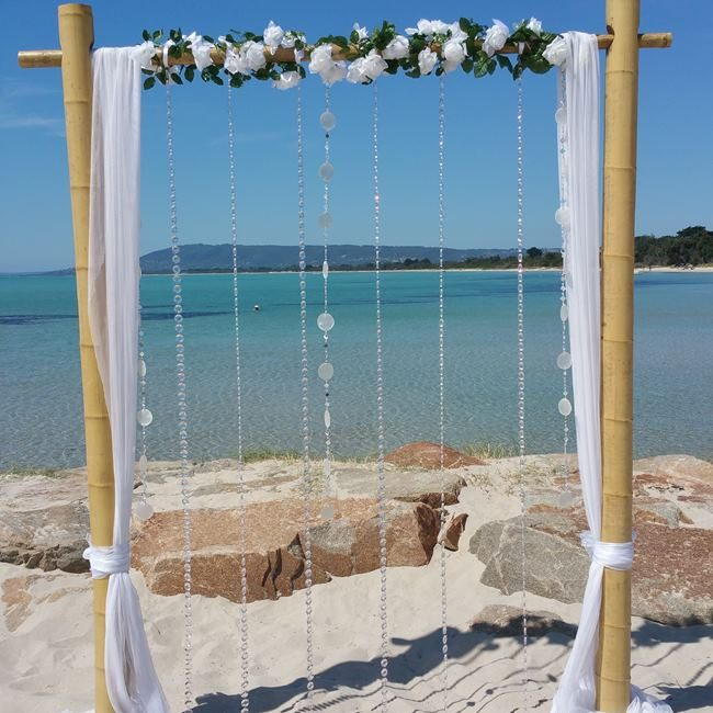 Bamboo wedding backdrop