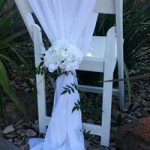 Chiffon White Chair Shawl