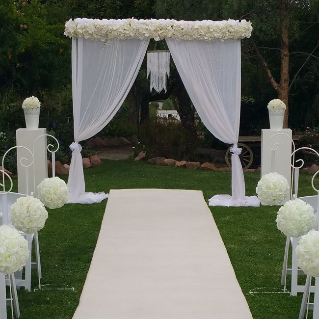 White Wedding Backdrop