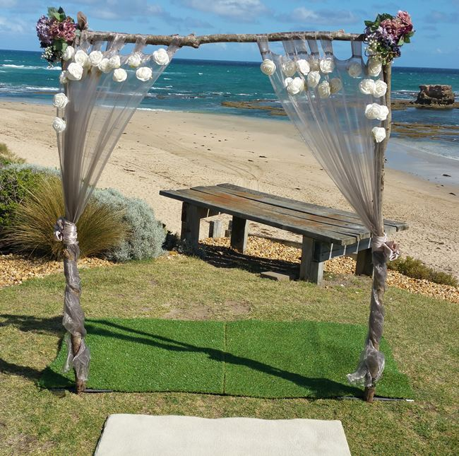 Rustic wedding arch hire melbourne