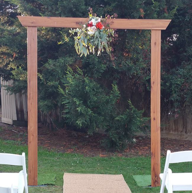 Timber wedding arbour hire
