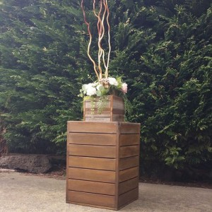 Timber wedding pedestal