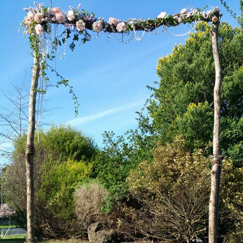 Wedding arbour with crystals