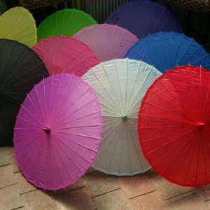plain colour wedding parasols