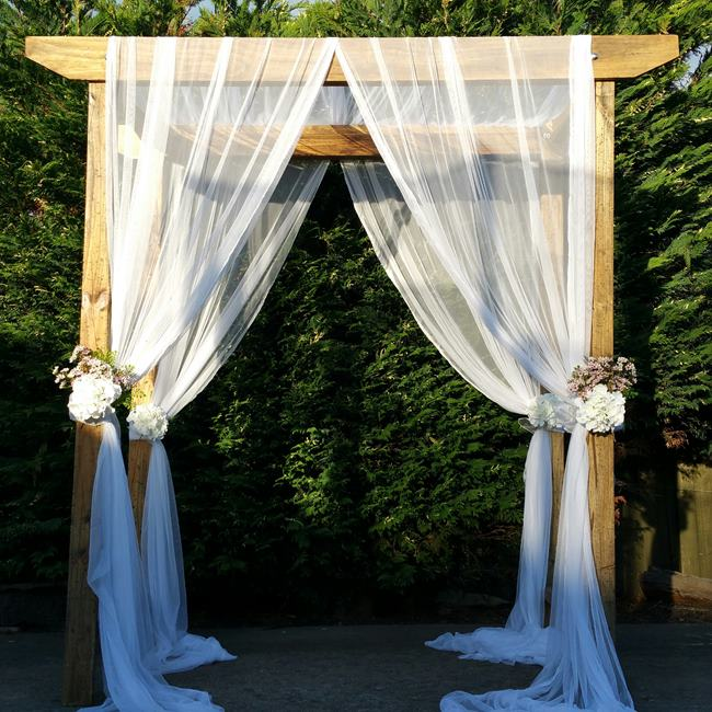 wood wedding arch hire geelong