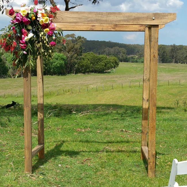 Rustic wedding arch melbourne